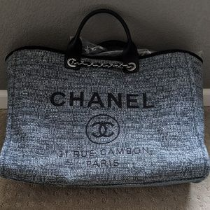 LARGE Chanel Canvas Deauville Tote